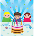 happy kids at birthday party vector image vector image