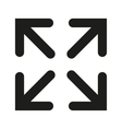 The full screen icon Arrows symbol Flat vector image