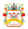 Fun Fair Carnival Circus Label vector image