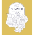 Summer Food Vintage Sketch vector image