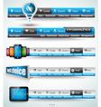 Web Button Bars vector image vector image