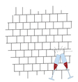 brickwall with glass color vector image