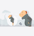 character funny and comic style man angry vector image