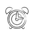 figure round clock alarm object design vector image