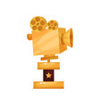 golden film award prize for the best filming vector image