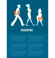 Headhunting banner with business people vector image