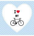 I love bicycle3 vector image