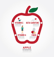Infographic apple health concept template design vector image