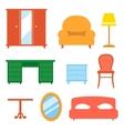 Interior indoor living room design elements set vector image