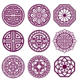 Korean ornament asian traditional symbols vector image