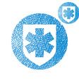 Medical insurance simple single color icon vector image