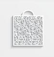 Ornamental paper bag vector image