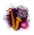 Saxophone sax Jazz music vector image