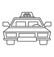 Taxi car icon outline style vector image