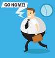 the end of the working day vector image