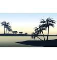 Tropical sea landscape vector image