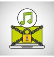 music security internet technology vector image
