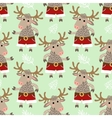 Seamless pattern with deer vector image