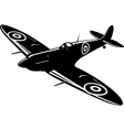 spitfire vector image vector image