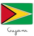 Guyana flag doodle vector image vector image