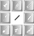 set computer keys vector image vector image