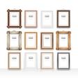 Wooden Rectangle Frames Set vector image vector image