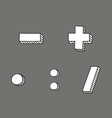 Plus minus multiplication and division icon vector image