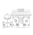 Cartoon of street cafe vector image