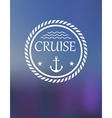 Cruise header with anchor and waves vector image