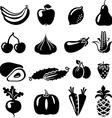 FruitsVegetables vector image