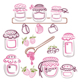 Jam design elements vector image