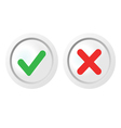 pass and fail icons set vector image
