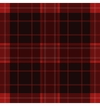 seamless red black tartan with white stripes vector image