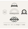 Set of simple elements for design vector image