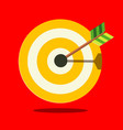 target icon on red background vector image