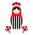 Russian dolls - matryoshka vector image