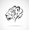 Tiger head on white background vector image vector image