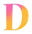 Watercolor alphabet letter vector image vector image