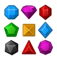 Set of Multicolored Gems for Match3 Games vector image