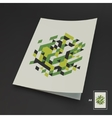 A4 Business Blank Abstract vector image vector image
