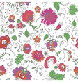 Seamless hand-drawn floral pattern vector image