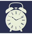 Clock on dark blue background vector image