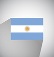 Flat Flag of Argentina vector image vector image