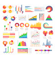 business graphics and charts vector image