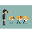 Businessman hard work vector image
