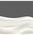 Fresh milk wave isolated on transparent checkered vector image