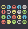 household appliances and furniture icon set vector image