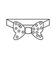 male bow tie vector image
