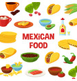mexican food poster vector image