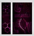 molecule banners set vector image
